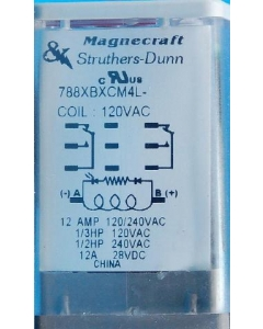 MAGNECRAFT/S&D - 788XBXCM4L-120VAC - Relay, 120VAC DPDT-12A and Press-to-Test