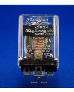 Schneider Electric / Magnecraft / Struthers & Dunn  - W389ACX4 - Relay, AC. SPDT 20Amp 120VAC. Flange Mount 298XAXC1-120A.
