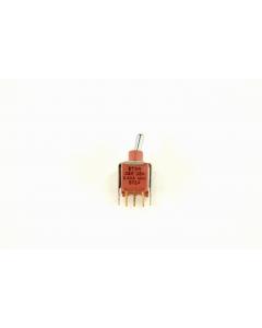 C & K Components - ET24MD1V3BE - Switch, toggle. DPDT On-On-On.