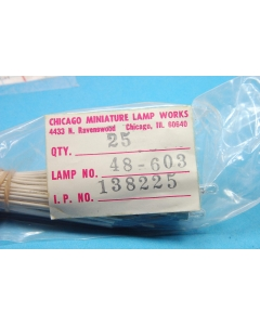 "Chicago Miniature Lab - 48-603 - Lamps & Lights. 36V 0.05Amp with 8"" leads."