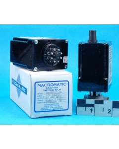 MACROMATIC - SS50522-04 - Relay, Time delay. 0.2-5 SEC 120VAC/DC DPDT-10A