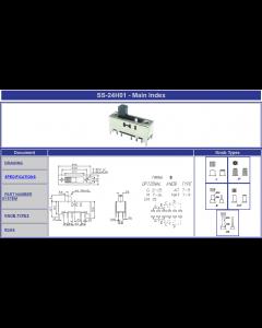 Vimex WMC - SS24H01 NAT5 - Switch, slide. Contacts: DP4T.