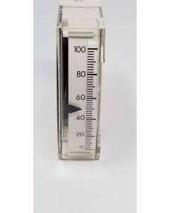 International Instruments - Model 1136 - 1136VC 200uA - DC EDGEWISE - Meter, Edgewise Panel. 200-0-200 uADC Zero-Center.