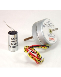 MURTEN SAIA - UDR11UJ1RHZ40 - Motor, AC. Timing motor, reversible. 120VAC 60Hz 2.5 watt, 400-500 RPM. Dual shaft, 4 wire.