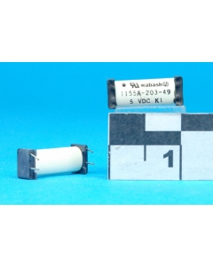 WABASH - 1155A-203-49 - Relay, dip. Input: DC. Contacts: SPST NC.