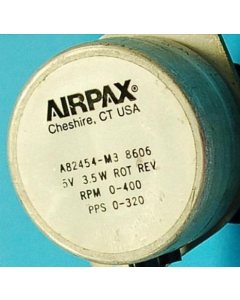 Airpax - A82454-M3 - Motor, stepper - 5VDC 1.125 Deg/Step 0-400RPM 0-320P/Sec.