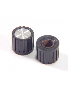 """Unidentified MFG - 8-008 - Hardware, knob. For 1/4"""" flattened shaft.  Package of 2"""