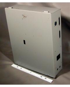 "CUSTOM - 0594 - Enclosure. 15""x12""x4"" hinged steel cabinet."