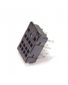 AMPHENOL - 8-074 - 4-Pole relays sockets Chas Mt 14-pin solder pins