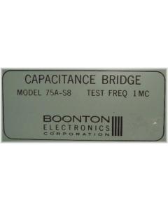BOONTON - 75A-S8 - CAPACITANCE BRIDGE TEST FREQUENCY IMC