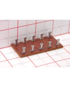 Unidentified MFG - 8-150 - Phenolic/Fiber Tie Point/ Connection Board. 10 position, Dual 5 .
