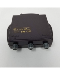 Macom ColorMax -  SM-701 - AB-2 - A-B Coxial Type F Manual Switch.