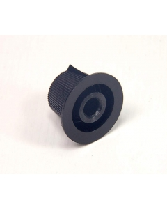 "Unidentified MFG - 8-348 - Control/Instrumentation Knurled Knob with Pointer Indicator. For 1/4"" Shaft, Splined ID."