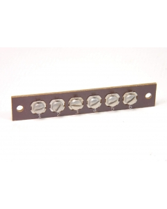 MAGNAVOX - 8-383 - Vintage 6 Position Phenolic/Bakelite Terminal Strip, Screw Type Solder Lugs.