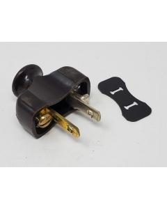 ARROW HART  - T-1323 - Antique Electrical Plug, 2 Conductor EZ Gripe Pull Handle Radio CAP.
