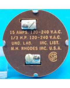M.H. RHODES - 5MA708 - Timer, mechanical. 15Amp 120-240VAC.