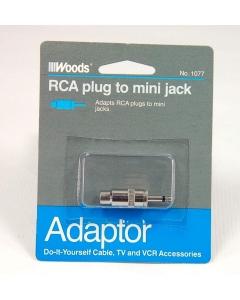 WOODS - 8-571 - Accepts RCA phono plug to 3.5mm mono plug.