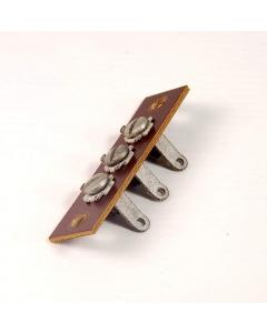 MAGNAVOX - 8-685 - Vintage 3 Position Phenolic/Bakelite Terminal Strip, Screw Type Solder Lugs.