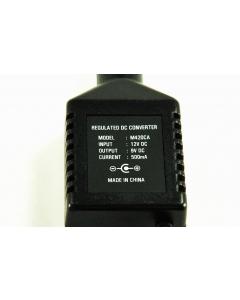 Unidentified MFG - M420CA - Power supply, AC adapter. 12VDC to 9 VDC 500mA plus cigarette lighter plug.