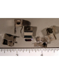 "Littelfuse - 101-001  -  Rivet / Eyelet Mount Fuse Clips For 1/4"" 3AG Fuses,  Package of 50"