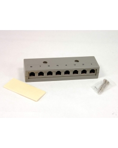 Unidentified MFG - 8-817 - Enclosure, plastic. Telephone jack box.