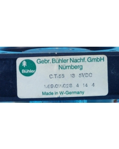 "Buehler - 1.69.011.028 - Fan, axial. 5-13VDC. Marked: ""C.T.55 13 5VDC""."