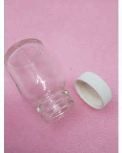 CLEVELAND BOTTLE & SUPPLY CO - 8-989 - Glass Jar Bottle, 30CC, 1 Ounce, Wide Mouth.