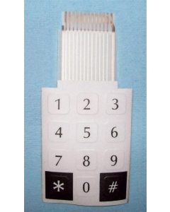 Unidentified MFG - 9-029 - Keypad. With a 13 Conductor flat ribbon cable.
