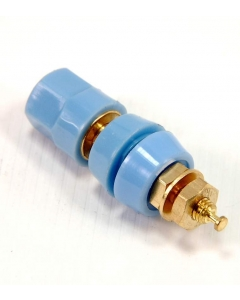 EF Johnson Co - 111-0910-002 - Connector, Binding Post. Blue Deluxe Gold.