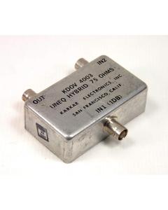 KARKAR ELECTRONICS - KDOV4003 - FILTER 75-OHM UNEQ HYBRID