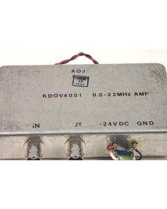 KARKAR ELECTRONICS - KDOV4001D - FILTER 0.5-22 MHz