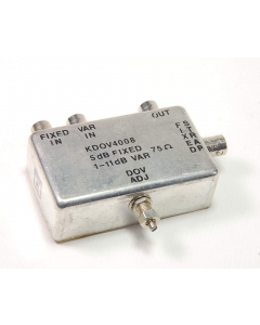KARKAR ELECTRONICS - KDOV4008 - FILTER 75-OHM 5DB FIXED, 1-11DB VAR