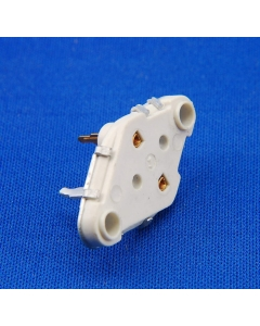 DYNACO HAFLER - MS-091 - TRANSISTOR INSULATED SOCKET,  TO-3 - White Ceramic , Gold Pins.