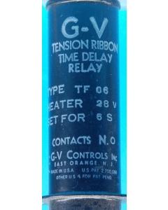 GV CONTROLS INC - TF-06 - Relay, timer. 6 Sec, NO 28V 3Amp.