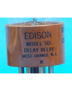 EDISON - B1933 EDISON 501 - Relay, time delay. Contacts: SPST NO 60 seconds.