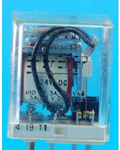 Potter & Brumfield - KHU-17D11-24VDC - Relay, DC. 4PDT 3Amp 24VDC.