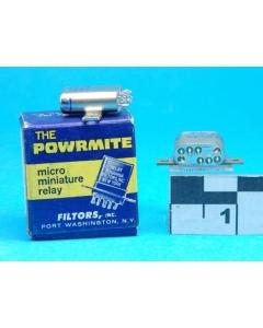 FILTORS INC - P26D1H6A-16 - Powrmite Micro Miniature Relay, 24VDC DPDT-1Amp Crystal-can