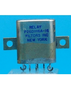 FILTORS INC - P26D1H6A-16 - 24VDC DPDT-1Amp Crystal-can