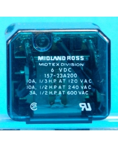 Midland Ross - 157-23A200 - 6VDC 3PDT-10A KUP-style