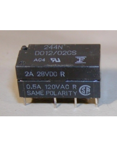 FUJITSU - FBR244ND012/02CS DO12-02CS - Relay, DIP. Coil: 12VDC.