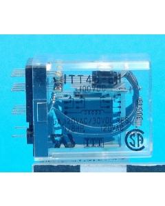 "ITT - 4B-EH100DC - 100VDC 4PDT-5A PCB ""ice cube"""