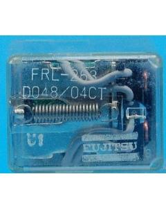 Fujitsu - FRL263/D048-04CT - Relay, DC. 4PDT 1Amp 48VDC.
