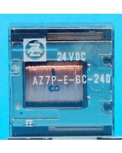 American Zettler - AZ7P-E-6C-24D - 24VDC 6PDT-2Amp Dry Circuit Relay
