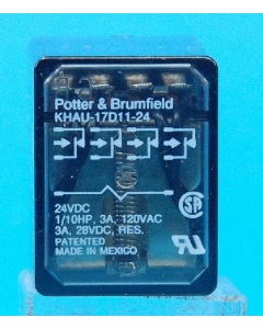 Potter & Brumfield - KHAU-17D11-24 - Relay, control, DC. Contacts: 4PDT.