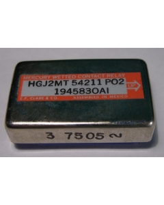 CP Clare & Co. - HGJ2MT54211P02 Relay Mercury Wetted contacts DPDT 100VA-24VDC