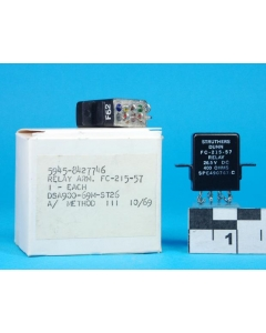 STRUTHERS & DUNN - FC-215-57 - Relay, DC. DPDT 10Amp 26.5VDC.