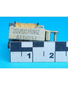 Unidentified MFG - 411823-1 - Solenoid, Laminate Open Frame AC. Coil: 26VAC,  0.75A,  5.5 Ohms.