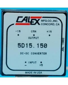 CALEX - 5D15.150 - DC/DC Converter. Dual Out: +/-15V 150mA 4.5W.
