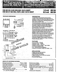 General Instruments - 6N138 - IC, optocoupler. 6N138, MCC670., Removed from Equipment, Package of 25.